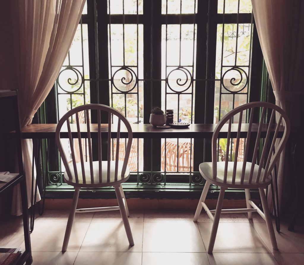 table at window